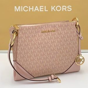 Michael Kors Nicole Crossbody Bag MK Pink Ballet